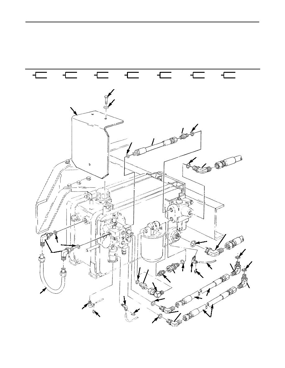 Figure 140  Winch Reservoir Lines And Related Parts
