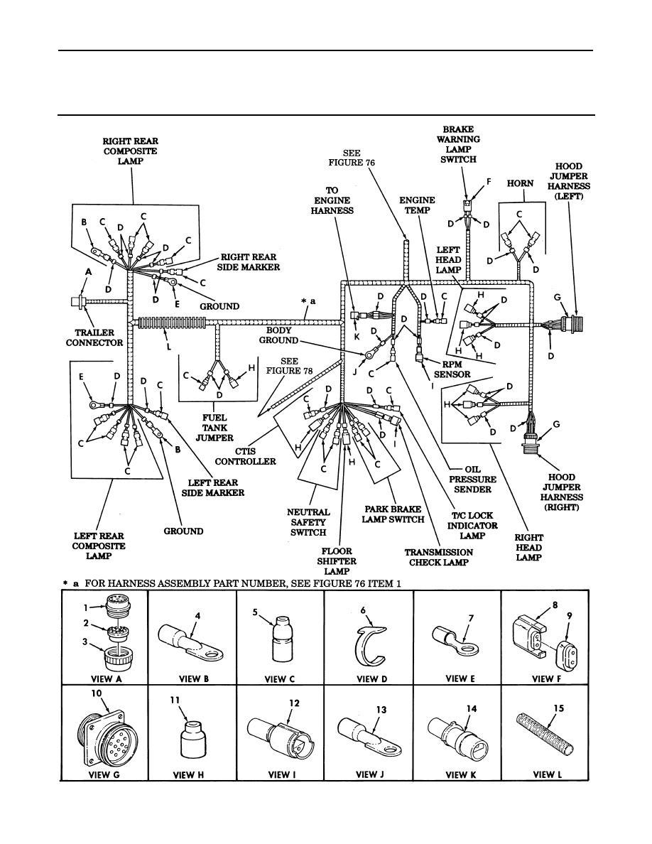 Figure 77  Body Wiring Harness