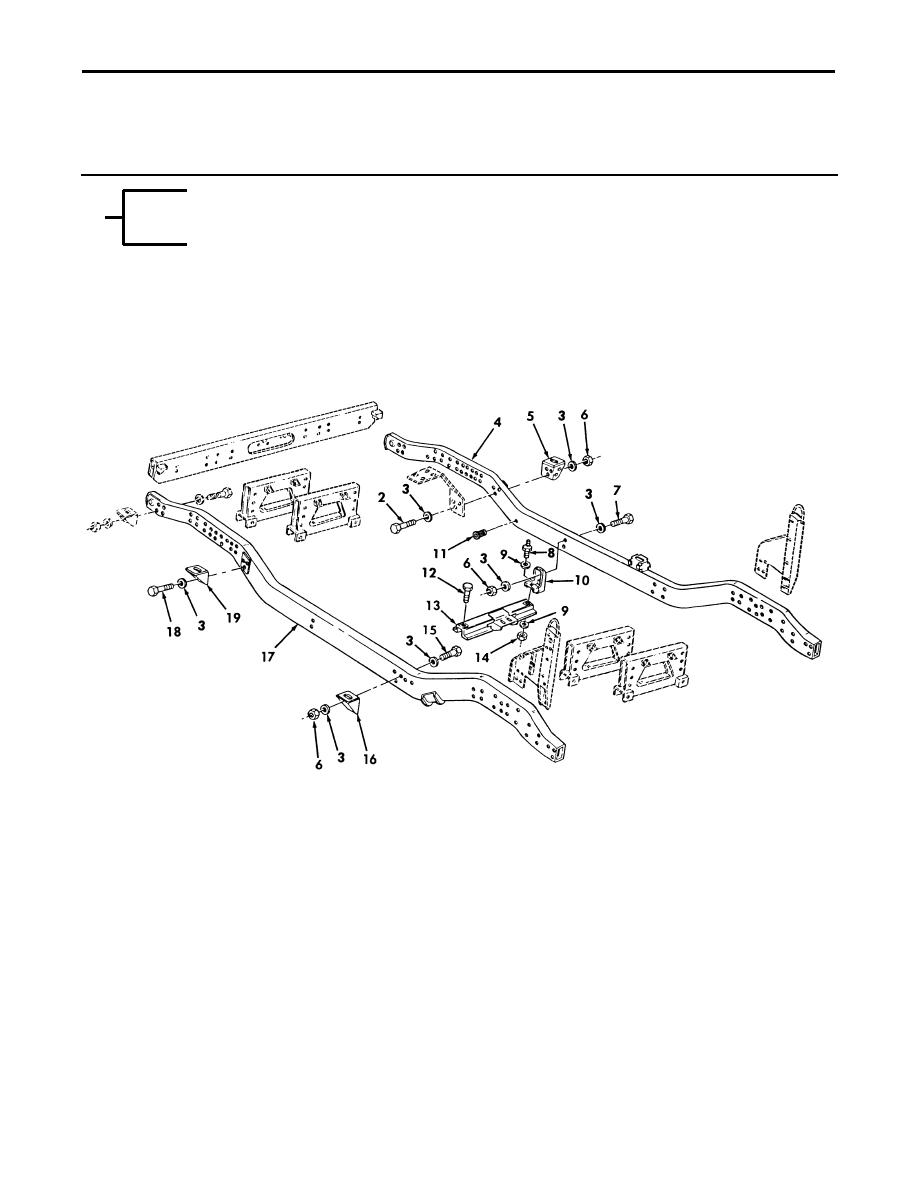 Figure 141  Frame Assembly, Body Mount Brackets, and